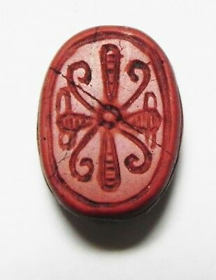 Zurqieh -As3300- Ancient Egypt , Red Jasper Scarab 19Th Dynasty. 1300 B.c