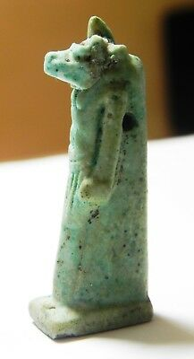 Zurqieh -As3302- Ancient Egypt , Large Faience Anubis Amulet, 600 - 300 B.c