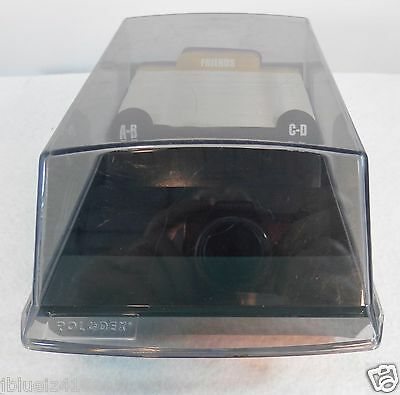 """Rolodex Tray Card File w/ Smoke Colored Lid 4"""" X 2"""" cards VIP 24C green base"""