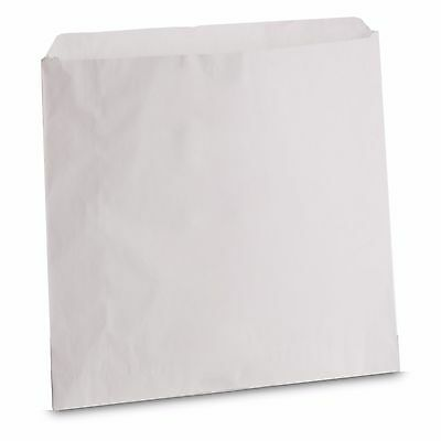 "100 x High Quality Grease-proof Paper Bags 5"" x 5"" White Food Chips Sandwich"