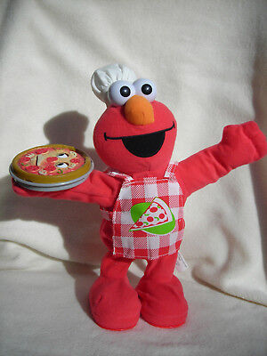 Collectible Fisher Price Sesame Street Animated Singing Pizza Elmo Doll