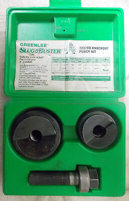 """GREENLEE 7237BB SLUGBUSTER Knockout Punch Kit For 1-1/2"""" - 2"""" Conduit, USED"""
