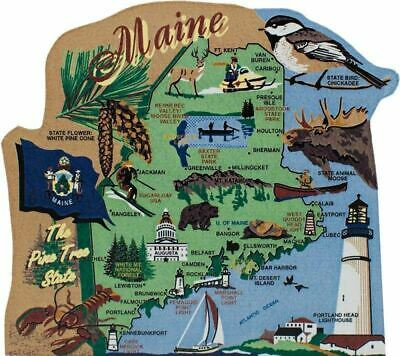 Cat's Meow Village US MAP Maine Pine Tree State #RA667 NEW *SHIPPING DISCOUNTS*