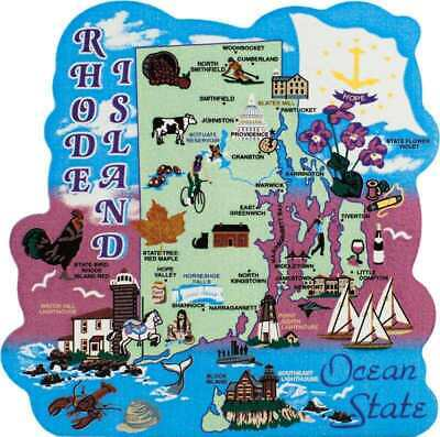 Cat's Meow Village US MAP Rhode Island Ocean State NEW #RA685 SHIPPING DISCOUNTS
