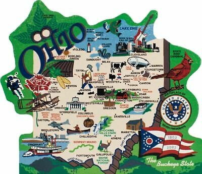 Cat's Meow Village US MAP Ohio Buckeye State #RA681 NEW *SHIPPING DISCOUNTS*