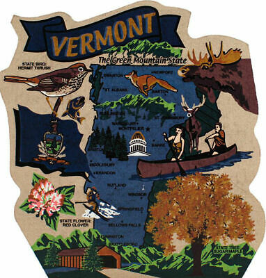 Cat's Meow Village US MAP Vermont Green MTN State #RA690 *SHIPPING DISCOUNTS*