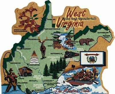 Cat's Meow Village US Map West Virginia Mountain State #RA693 NEW *SHIPPING DISC