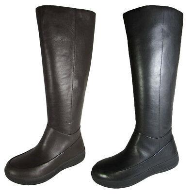 83df54abbd1a8 FITFLOP WOMENS FF-LUX Full Zip Knee-High Leather Boot Shoe -  99.99 ...