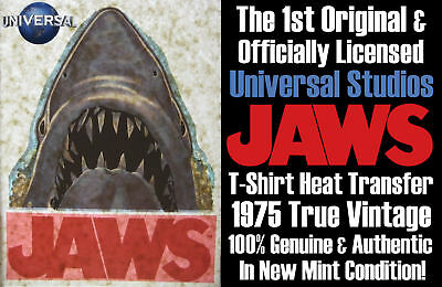The Official Original Vintage 1975 Universal Pictures Jaws Iron-On Heat Transfer
