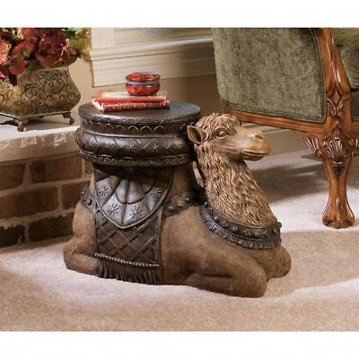 Unique Furniture Side Table Foot Stool Rest Arabian Desert Camel Hump Decor Art