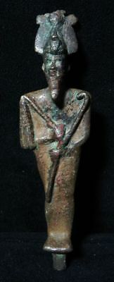 ZURQIEH -AS3313-  ANCIENT EGYPT.  Bronze Osiris Statue - 11.9 x 3.2 cm