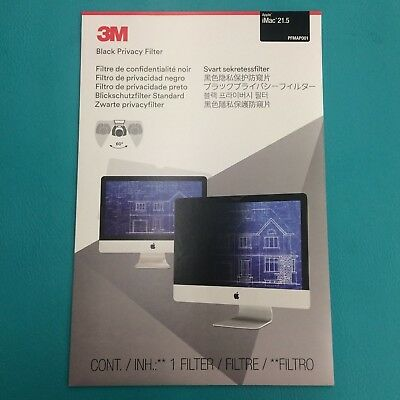 "3M PFMAP001 Privacy Screen Computer Monitor Filter for 21.5"" Apple iMac 60°"