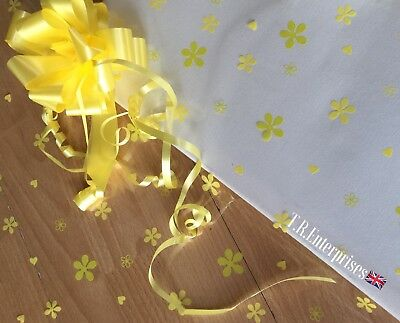 1 Metre X 80cm Yellow/Green Penelope Cellophane / Pull Bow / Boxed. Astic Group