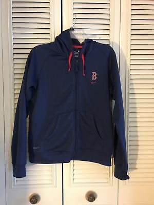NIKE FIT Women s BOSTON RED SOX Blue Zip-Up Hoodie Hooded Jacket Size M 8 728f4e661