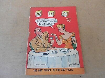 ABC #2 Americas Best Cartoons 1944 Chesler Wartime Comic Book Armed Services