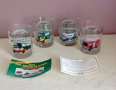Hess Toy Truck Collectors Glasses Set Of 4 1996 Rock Style
