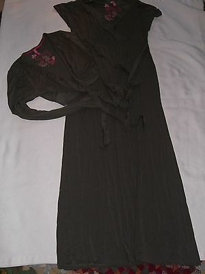 Womens Baby Project Elam 2 Piece Maternity Full Length Dress Size Medium