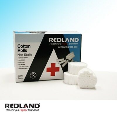 2000 Pcs Dental COTTON ROLLS #2 MEDIUM Non-Sterile -FDA