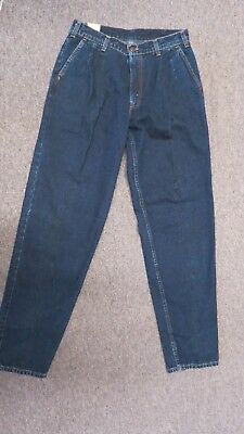 Nwt Vintage 80's /90S Pleated Front Levi's Strauss Mens 31 X 34 Street Jeans Usa