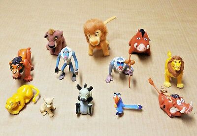 Lot of 12 Disney The Lion King Plush and Small Plastic Toy Figures