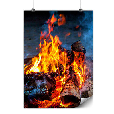 Fire Coal Camping Matte/Glossy Poster | Wellcoda