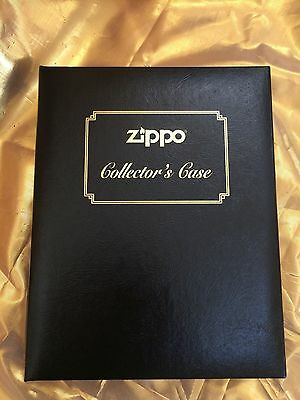 Zippo Collectors Book Style Case 12 Zippo Capacity Faux Leather Finish