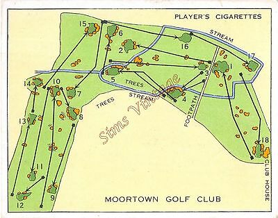 Cigarette Card Players  Championship Golf Courses Moortown Golf Club Lot 7