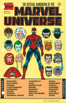 Marvel The Official Handbook Of The Marvel Universe #1 Sealed First Print