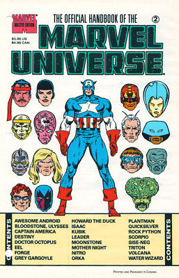 Marvel The Official Handbook Of The Marvel Universe #2 Sealed First Print