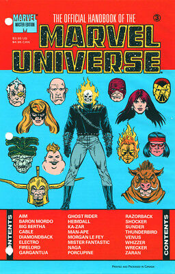 Marvel The Official Handbook Of The Marvel Universe #3 Sealed First Print