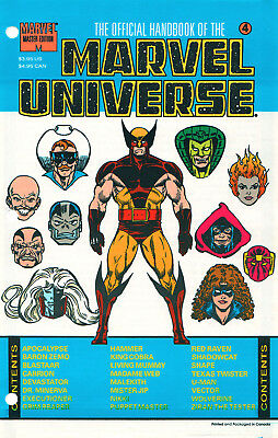 Marvel The Official Handbook Of The Marvel Universe #4 Sealed First Print