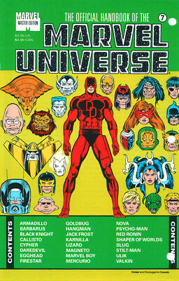 Marvel The Official Handbook Of The Marvel Universe #7 Sealed First Print