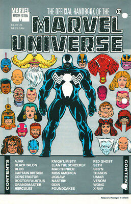 Marvel The Official Handbook Of The Marvel Universe #10 Sealed First Print