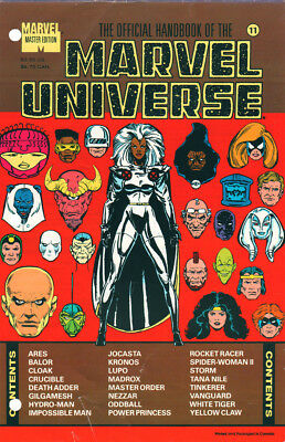Marvel The Official Handbook Of The Marvel Universe #11 Sealed First Print