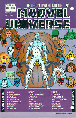 Marvel The Official Handbook Of The Marvel Universe #12 Sealed First Print