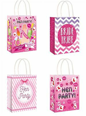 Paper Hen Party Bags Bride To Be Girls Night Gift Treat Sweet Bag Goodies Pink