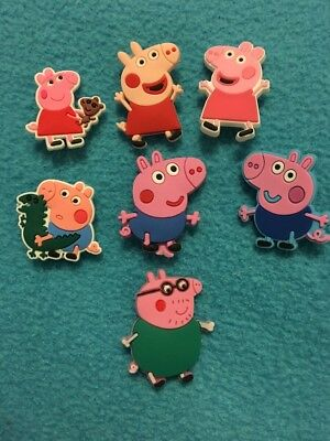7X Peppa Pig Logo Mummy Daddy Croc Shoe Charms  Crocs Jibbitz Wristbands George