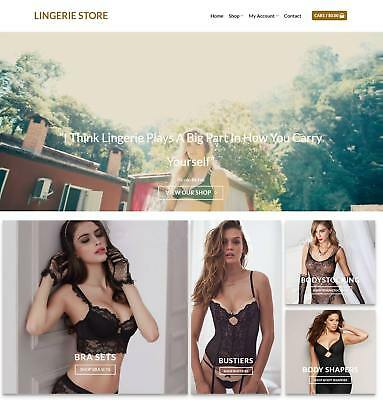 Lingerie Store Website Business For Sale - Earn $170 A SALE. Free Domain|Hosting