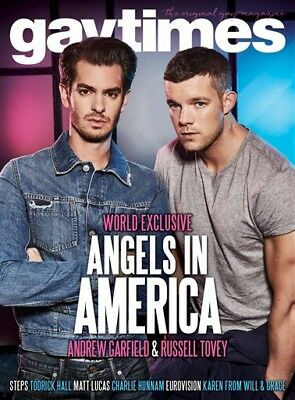 GAY TIMES 471 MAY 2017 - ANGELS IN AMERICA, Andrew Garfield, Russell Tovey