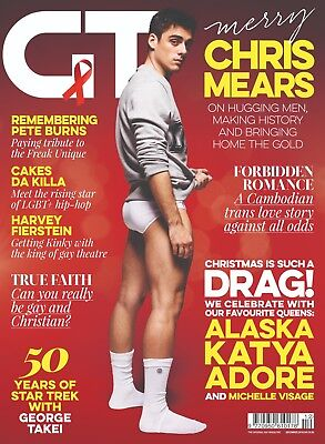 Gay Times 466 Dec 2015 - Chris Mears, Katya, Alaska, Harvey Fierstein
