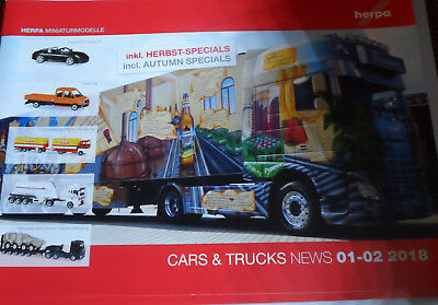 Herpa Cars & Truck News 01-02 2018 Neu