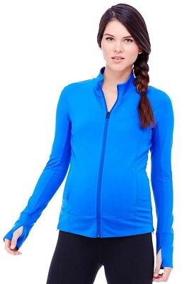 NWT Ingrid & Isabel Active Side Zip Maternity Jacket Cobalt - Size Med  (8-10)