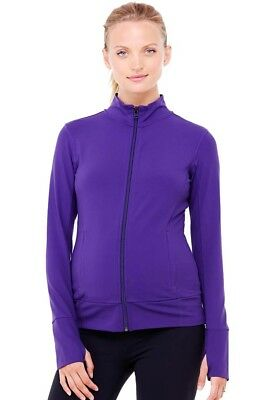NWT Ingrid & Isabel Active Side Zip Maternity Jacket Purple  - Size XS (0-2)