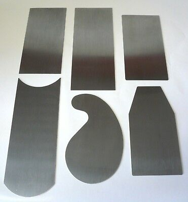 """Arno French Cabinet Scrapers 3 Profiles 023/"""" Thick Hard Spring Steel 115552"""