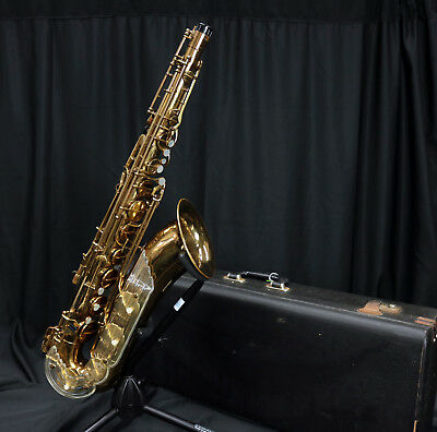 "VINTAGE KEILWERTH ""THE NEW KING""  Bb TENOR SAX ORIGINAL LACQUER {PLAYS GREAT}"