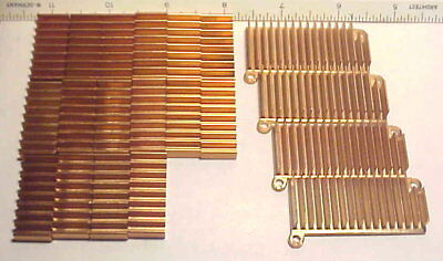 "18 pcs Heat Sink Lot (14) 1-5/16""x 9/16"" & (4) 2-1/16"" x 15/16"" Salvaged VGC"