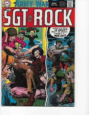 Our Army at War #206 (Sgt Rock  FN/VF  7.0) May-1969, DC