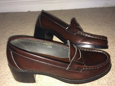 ece43dad114 Haruta Japanese real leather school loafers brown sz 6.5 EEE Japan size 23.5