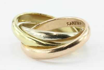 Vintage Cartier 14K Gold Trinity Ring c.1940's