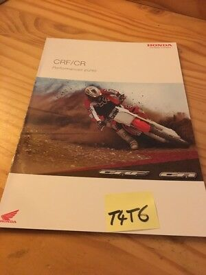 Honda CR CRF 450 250 100 70 50 85 moto prospectus brocure catalogue prospekt